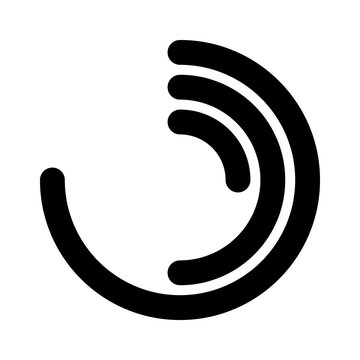 Circular activity ring flat vector icon for watch apps and websites