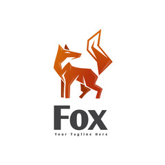 Abstract stand fox logo
