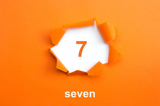 Number 7 - Number written text seven