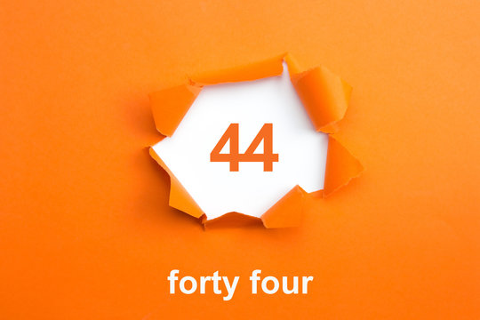 Number 44 - Number written text forty four