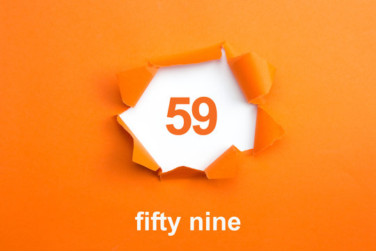 Number 59 - Number written text fifty nine