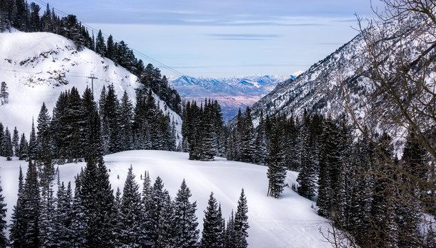 Ski Bum's view of the Salt Lake City Valley
