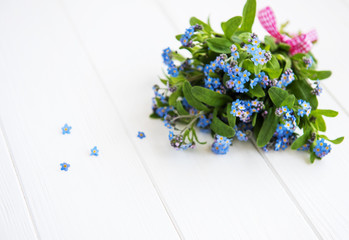 Forget-me-nots flowers bouquet