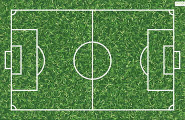 Soccer football field background. Vector illustration.