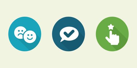 Set of social media icons.