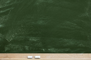 Old blank dirty chalkboard .Empty Chalkboard Background with writing space.