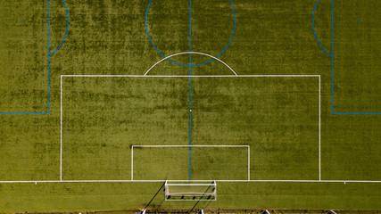 [空撮写真]上空からみるサッカーグラウンド