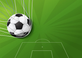 soccer game, vector illustration, you can place relevant content on the area.
