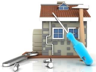 illustrations, repair  house