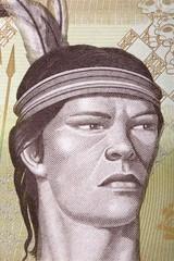 Guaicaipuro portrait from Venezuelan money