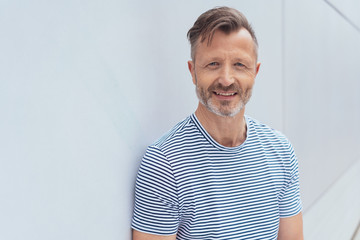 Casual middle-aged man with a confident smile
