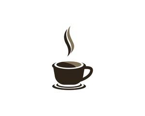 Coffee cup logo design vector template