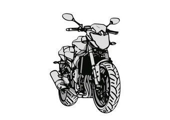 Poster Motorcycle sketch of a sports car vector.