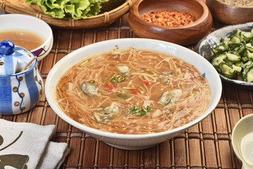 Oyster vermicelli is a popular food in taiwan