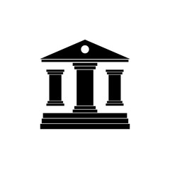Justice court building. vector illustration on white background