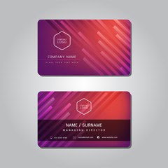 Red Modern Abstract Business Name Card Vector Design Template.