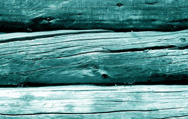 Wooden fence pattern in cyan color.