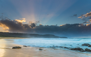 Sunbeams at the Beach - Seascape