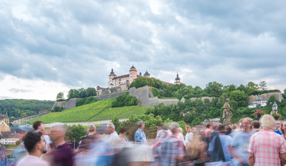 Würzburg, Festung Marienberg zur Abendstunde