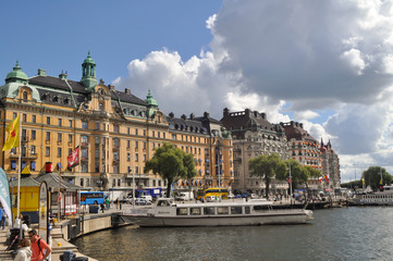 streets and houses in the center of Stockholm