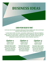 nice and beautiful business brochures or flyer with nice and creative design illustration.