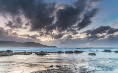 Rocky Seascape with Clouds