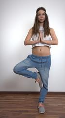 Junge Yoga Frau