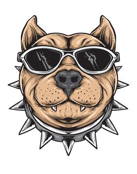 funky dog vector