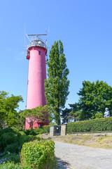 Historic lighthouse on the Baltic Sea in Krynica Morska, Poland