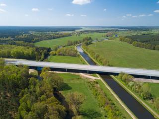 Autobahnbrücke über die Elde