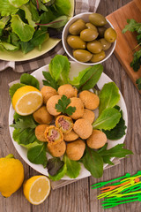 Ascoli stuffed olives.
