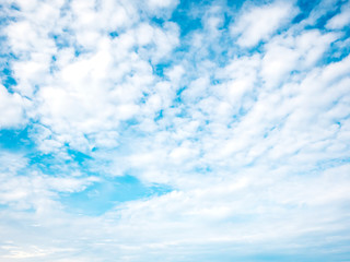 Summer time blue sky background with tiny cloud