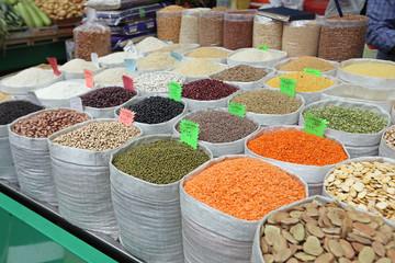 Rice and Beans in Bulk Sacks