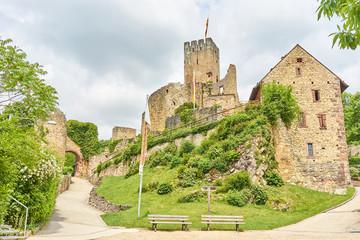 """Ruin of german castle """"Rötteln"""" in Loerrach / Black Forest in Germany"""