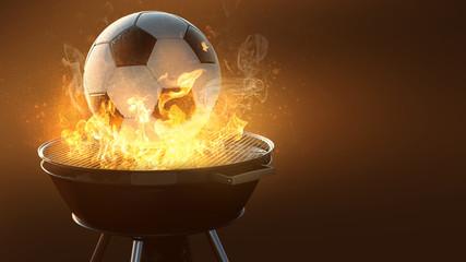 Fußball auf dem Grill