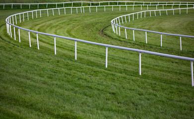 horse race track railing barrier turn
