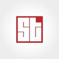 Initial Letter ST Logo Template Vector Design
