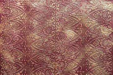 Drawn vintage floral metallic pattern, decorative painted patterns