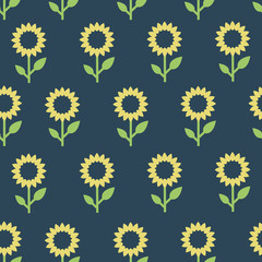 Pattern with sunflower