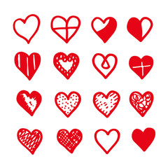 heart icon design hand draw