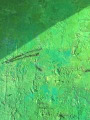 Organic matter background green painting texture.