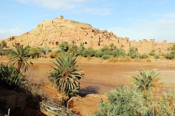 African castle - Kasbah, Ksar of Ait Ben Haddou