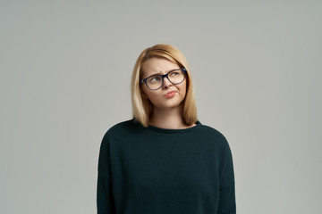 Girl on isolated background with copy space for your advertising text.