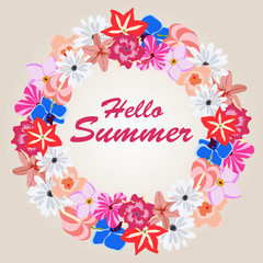 Vector illustration of summer background banners