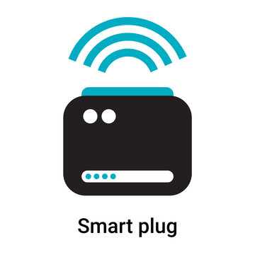 Smart plug icon vector sign and symbol isolated on white background, Smart plug logo concept