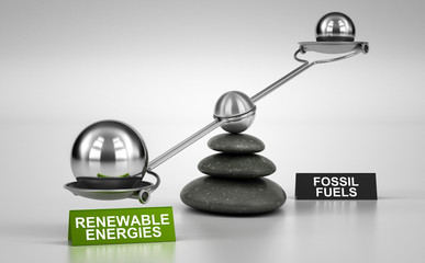 Energy Transition, More Renewable Energies And Less Fossil Fuels