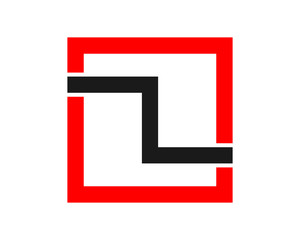 red rectangle typography image vector icon