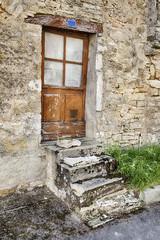 Door With Four Steps In Santenay