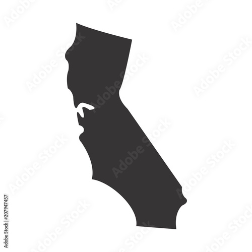 California State Map Of Us America Vector Simple Black Maps Eps 08