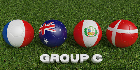 Football World cup  groups c.  2018 world soccer tournament  in Russia.
